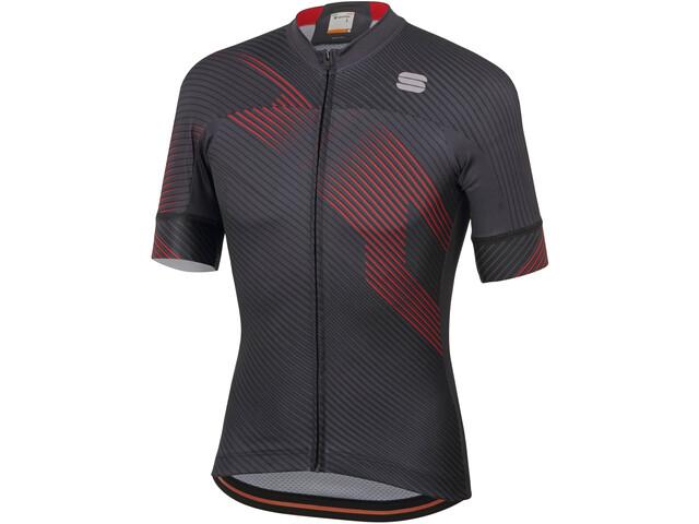 Sportful Bodyfit Team 2.0 Faster Jersey Heren, anthracite/red